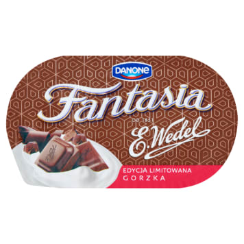 DANONE Fantasia Cream yoghurt with bitter chocolate 104 g