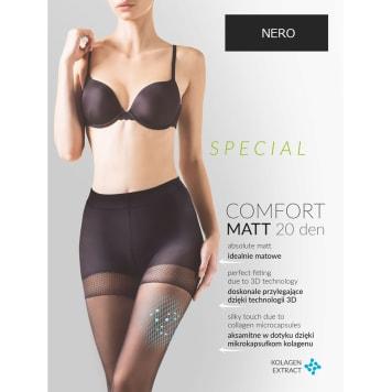 GABRIELLA Tights Comfort Matt 20 Den, size 2, color Nero 1pc