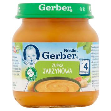 Zupka Jarzynowa po 4. miesiącu Gerber zbilansowana dla prawidłowego rozwoju.