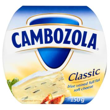 Ser miękki śmietankowy z niebieską pleśnią - Cambozola. Szlachetny, kremowy smak.