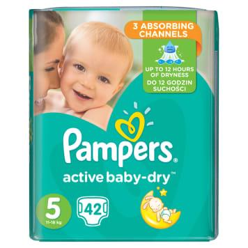 PAMPERS Active Baby Dry Pieluchy Rozmiar 5 Junior (11-18kg) 42szt 1szt