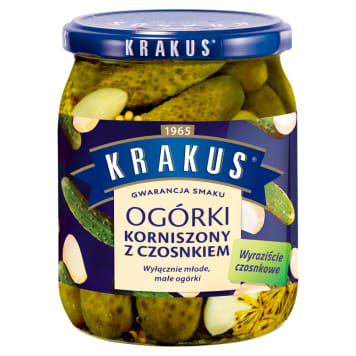 KRAKUS Gherkins with garlic 500 g