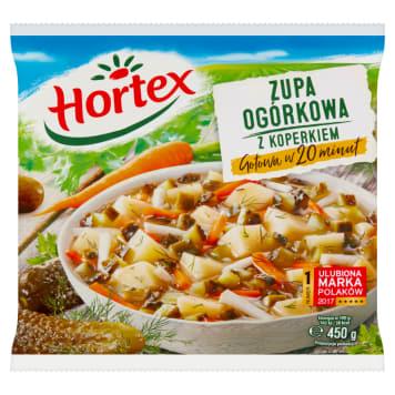 Mrożona zupa ogórkowa z koperkiem – Hortex. Zupy Hortex wyróżnia smak oraz zapach warzyw.
