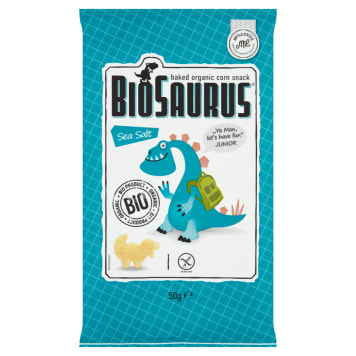 Chrupki kukurydziane z solą morską - Bio Saurus