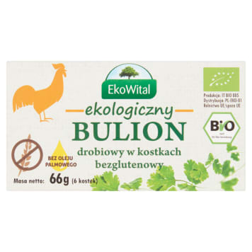 EKO WITAL Chicken broth in cubes without palm oil gluten-free BIO 66 g