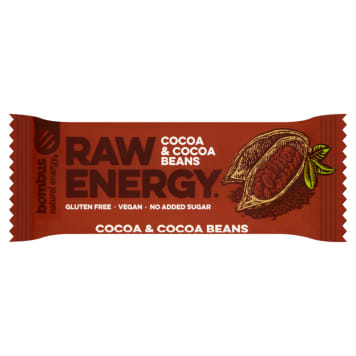 BOMBUS RAW ENERGY Raw energy cocoa beans (gluten-free) 50g