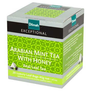 DILMAH Exceptional Arabian Mint Tea with Honey 20 bags 40g
