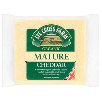 LYE CROSS FARM Cheddar ripe BIO cheese 200g