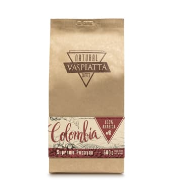 VASPIATTA NATURAL Colombia Coffee Supremo Popayan 100% Arabica 500 g