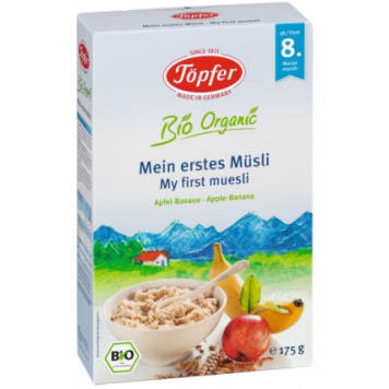 TOPFER Organic muesli granola for children over 8 months 175g