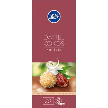 LUBS Fruit pralines with dates and BIO coconut 100g