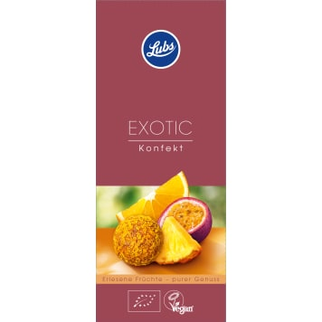 LUBS Pralines with exotic BIO fruit 80 g