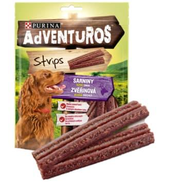 ADVENTUROS Strips Karma uzupełniająca dla dorosłych psów o smaku sarniny 90g