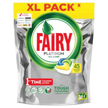 Kapsułki do zmywarek - Fairy Platinium. Doskonale czyszczące, odtłuszczające i nabłyszczające.