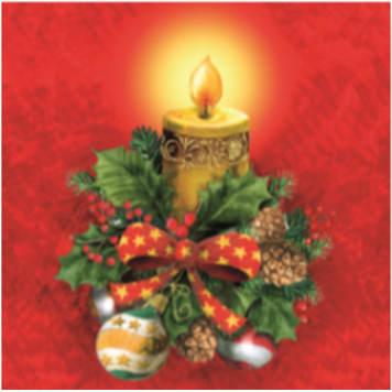 AHA Christmas napkins (BN-090) 20 items 1pc