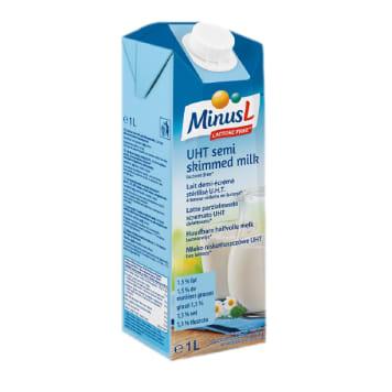 Mleko 1,5% bez laktozy UHT 1000 ml - Minus L. Zdrowy dodatek codziennej diety.