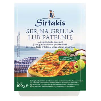 Ser do grilla z ziołami-Sirkatis. Produkowany z pasteryzowanego mleka krowiego.