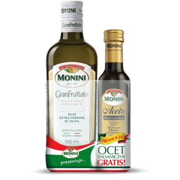 MONINI GranFruttato Extra Vergine olive oil + Balsamic vinegar 250 ml GRATIS 500ml