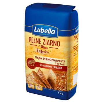 Mąka pełnoziarnista 3 zboża do wypieku chleba i ciast - Lubella