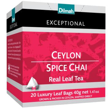 DILMAH Exceptional Black tea Ceylon Spice Chai 20 bags 40g