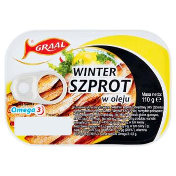 Graal - Szprot Winter w oleju 110 g. Grall jest znany z produkcji ryb w konserwach.