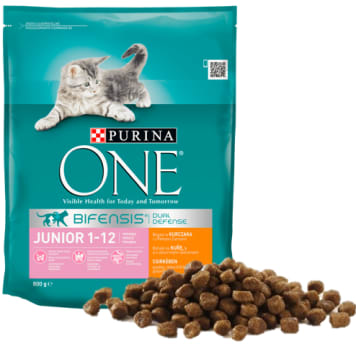 PURINA ONE Junior Chicken and whole chicken feed 800g