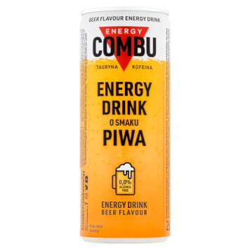 COMBU Energy Carbonated energy drink with a beer flavor 250 ml