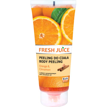FRESH JUICE Peeling do ciała Pomarańcza & Cynamon 200ml