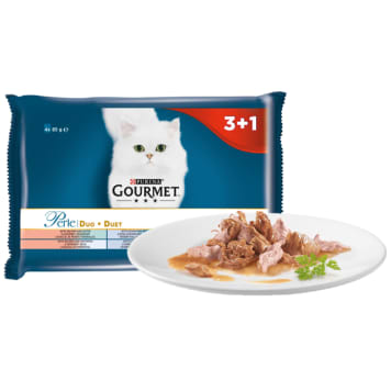 GOURMET Perle Complete food for adult cats duo (4 x 85 g) 340 g