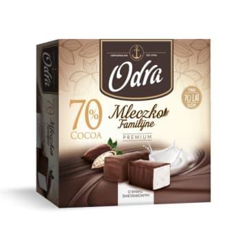 ODRA Familijne Mleczko Premium o smaku śmietankowym w czekoladzie 320g