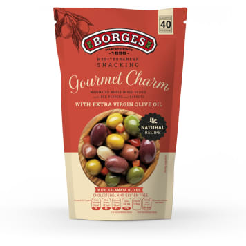 BORGES Green and black olives with vegetables Gourmet  Charm 160g