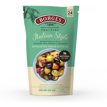 BORGES Olives with mushrooms, dried tomatoes and peppers Italian Style 130 g