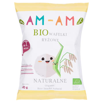AM-AM rice wafers gluten-free BIO 40g
