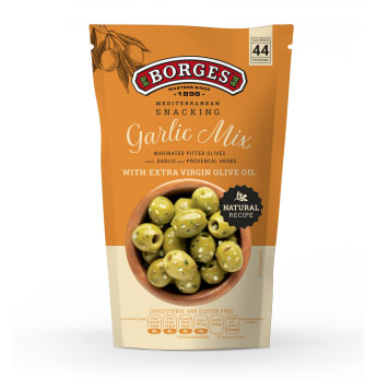 BORGES Green olives with garlic and herbes de Provence Garlic Mix 150g
