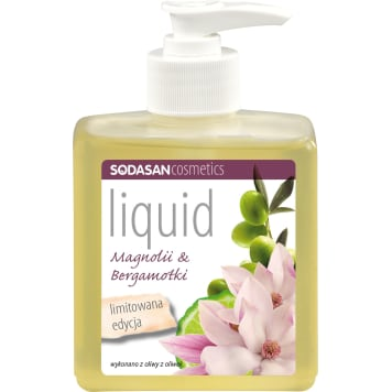 SODASAN Soap with magnolia and bergamot with a dispenser 300 ml