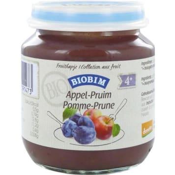 JOANNUSMOLEN BIOBIM Organic fruit dessert apple with plum over 4 months old 125g
