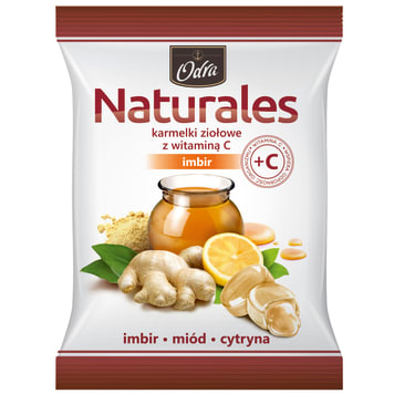 ODRA Naturales Herbal candies with vitamin C Ginger 60g