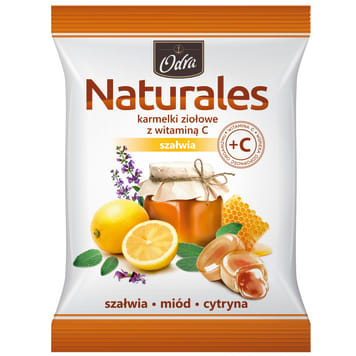 ODRA Naturales Herbal candies with vitamin C Sage 60g