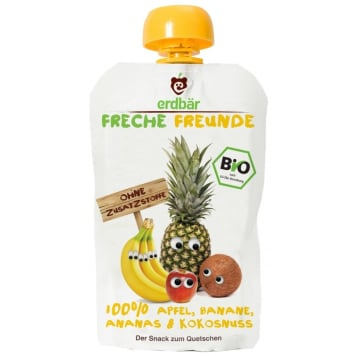 ERDBAR Apple mousse, banana, pineapple, coconut BIO 100g