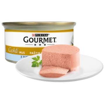 Gourmet – Pokarm dla kotów mus z tuńczykiem Gold -