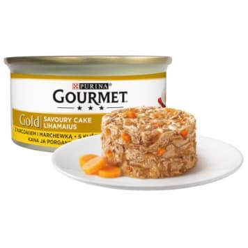 Karma dla kotów z kurczakiem i marchewką - Gourmet dostarcza pupilowi witamin i minerałów.