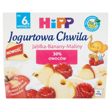 HIPP Yoghurt-Bananas-Maliny yogurt dessert - after 6 months BIO 400g
