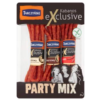 Kabanosy Party Mix – Tarczyński. Niepowtarzalnie cienkie, chrupiące i aromatyczne kabanosy.