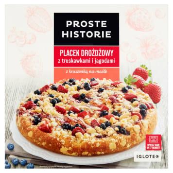 PROSTE HISTORIE Placek drożdżowy z truskawkami i jagodami 465g