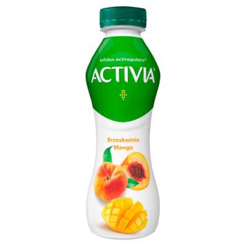 Danone - jogurt mango brzoskwinia 300g. Zawiera bakterie Acti Regularis.