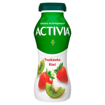 Jogurt DANONE Activia truskawka-kiwi 195g z zawartością prozdrowotnych bakterii Acti Regularis