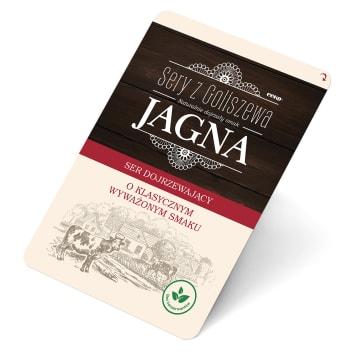 Ser Jagna w plastrach - Sery z Goliszewa posiada słodki smak i duże dziury. Idealny do kanapek.