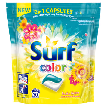SURF Capsules for washing Fruity fiesta & summer flowers 30 pcs 1pc