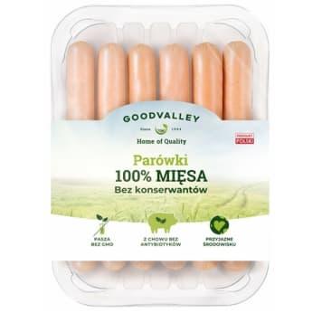 GOODVALLEY Parówki 100% mięsa bez konserwantów 210g