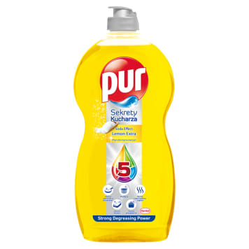 PUR Sekrety Kucharza Dish Washing Liquid - Lemon 1.35 l